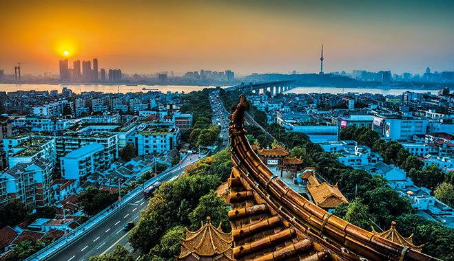 Wuhan City, Hubbei province. The area will be covered by the new mega-region