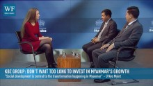 Western investors have been patiently observing Myanmar's growth story – but wait too long and you'll miss out, say KBZ's Nyo Myint and Zaw Lin Aung