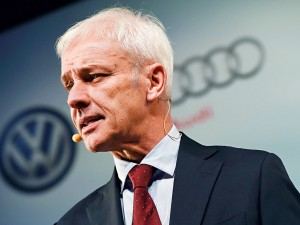Volkswagen's new Chief Executive, Matthias Müller