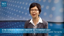 Fubon Life Insurance executive vice president Tsai-Ling Chao explains why Taiwan's insurance penetration is the highest in the world