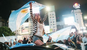 Supporters of Mauricio Macri celebrate in November 2015. Decades of poor economic policy mean that Macri can expect to face a number of challenges during his presidency