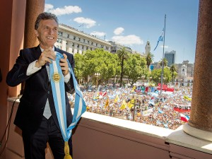 President of Argentina, Mauricio Macri, following his swearing-in ceremony on December 10, 2015