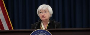 Janet Yellen, Chair of the Federal Reserve Board, speaks during a news conference in June. The Fed has mixed opinions on the current strength of the US labour market