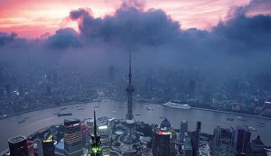 Pudong, China. Coal is still China's main energy source, with plans to switch to shale gas yet to come to fruition