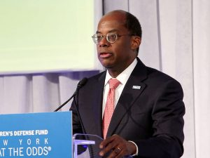 TIAA's CEO Roger Ferguson speaking at a gala earlier this year. TIAA has announced plans to acquire Florida-based EverBank