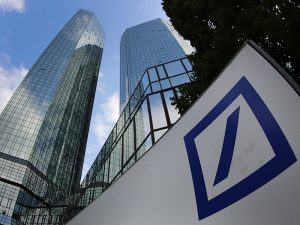 Shares in Deutsche Bank have dropped to a 33-year low following the news that several of the bank's hedge fund clients have decided to move their business elsewhere