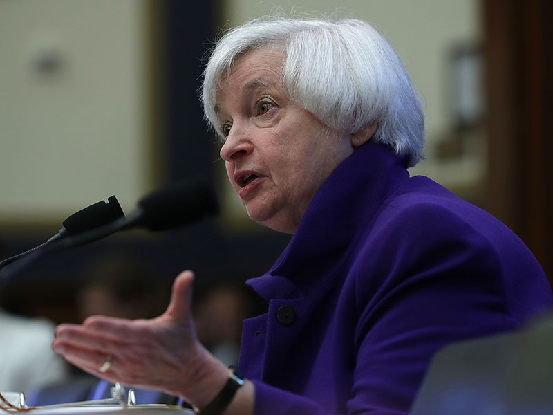 Janet Yellen testifies before the House Financial Services Committee on September 28 in Washington DC