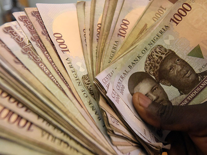The Nigerian naira has suffered a significant devaluation as the result of this year's collapse in oil prices