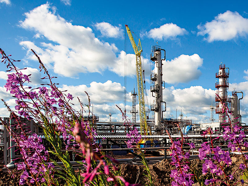 The first of the gas processing plants installed at the Yaraktinsky field, which will have a capacity of 3.6 million cubic nanometres of gas per year