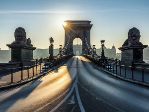 Chain Bridge, Budapest. Hungary's insurance sector continues to show strong gains despite industry-wide uncertainty