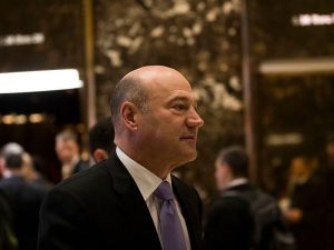 Gary Cohn, pictured at Trump Tower, will enter the White House as chief economic advisor