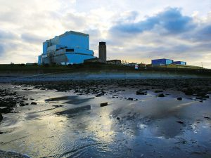 (L-R) Hinkley Point B and Hinkley Point A nuclear power stations