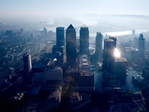 Canary Wharf, London. Although many jobs are expected to relocate from the city in the wake of Brexit, it is likely that the majority of these will be smaller, back-office roles