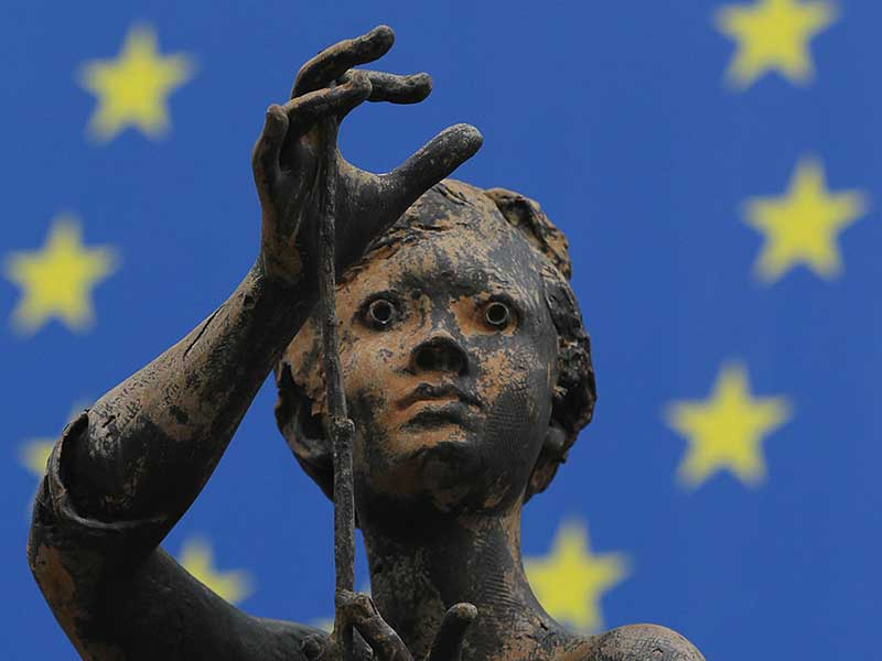 Rene Julien sculpture adorning the European Commission HQ in Brussels, Belgium