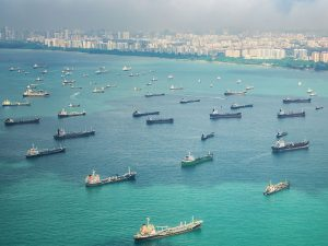 Cargo ships transporting oil to China and Singapore. China, the world's largest importer of crude oil, will greatly benefit from the Myanmar pipeline as it will no longer have to rely on unstable shipping routes for its imports