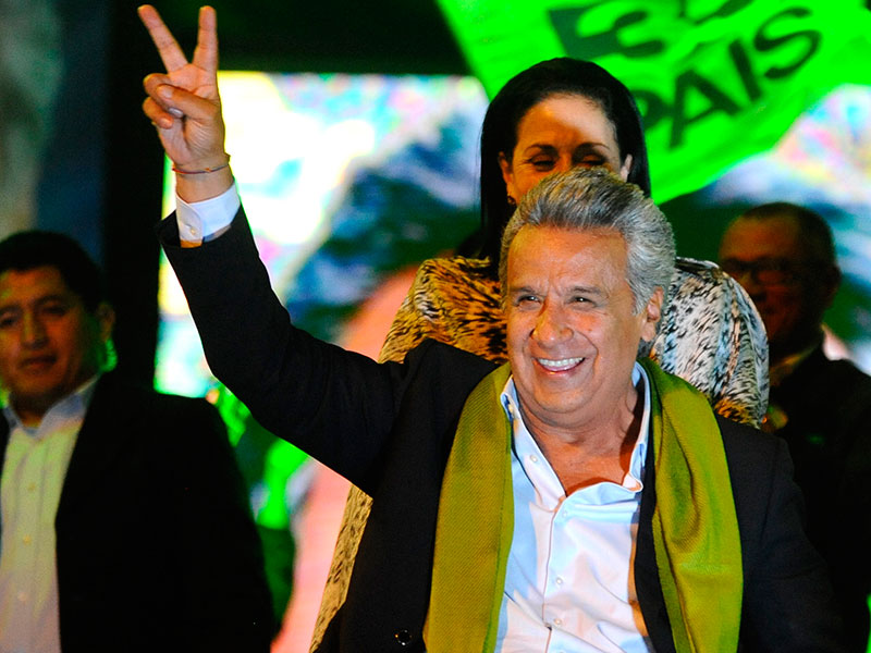 Lenín Moreno upon his victory in the Ecuadoran presidential election on April 2. Moreno's left wing policies are unlikely to spark the economic development that Ecuador desperately needs