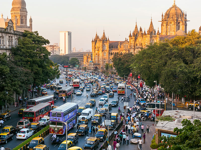 Mumbai, India. India and China both report impressive GDP growth on a regular basis, but only India made the list of the world's top five fastest-growing economies