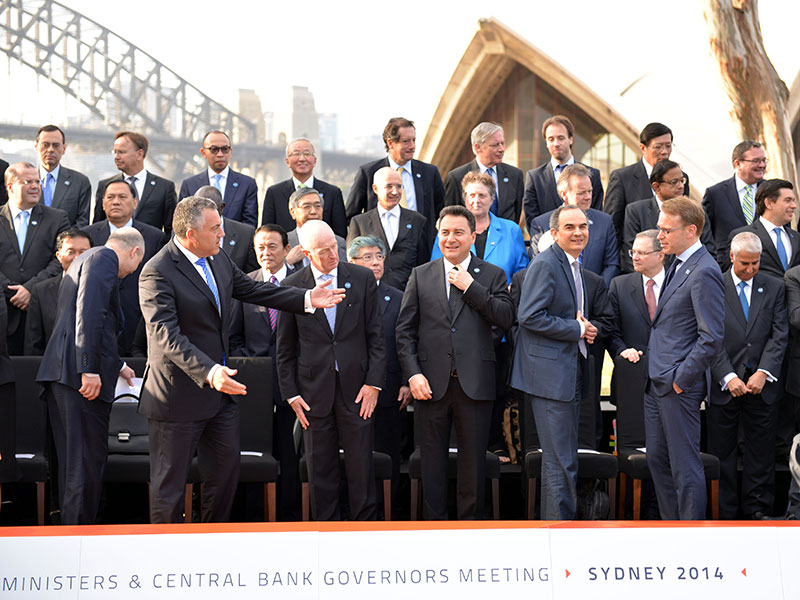 G20 finance ministers met in Sydney, Australia in 2014, the same year in which the group's ambitious growth targets for 2018 were set