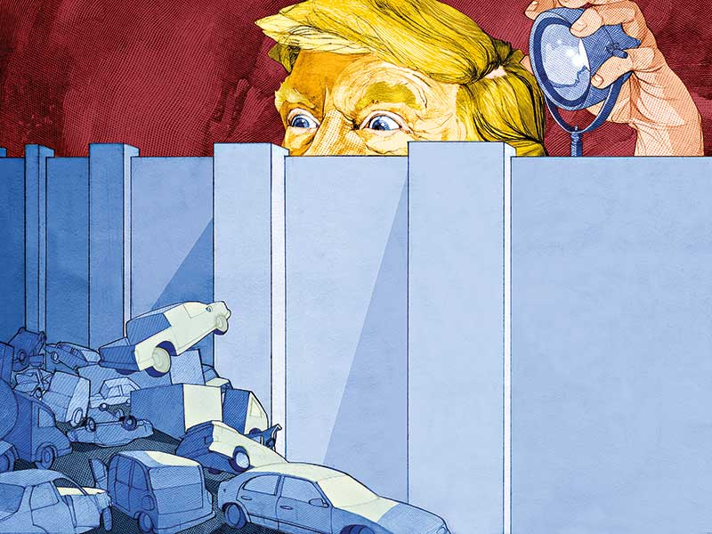 Trump puts NAFTA up against the wall