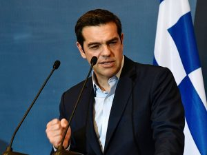 Alexis Tsipras, Prime Minister of Greece. Eurozone finance ministers have agreed to disburse €8.5bn ($9.5bn) of bailout funds to the nation