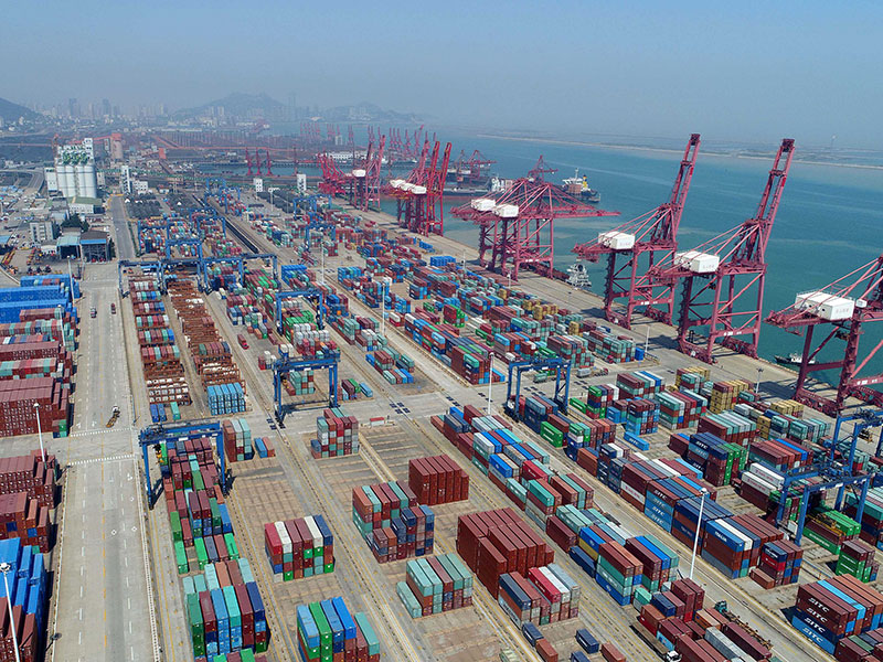 A container terminal in Lianyungang, Jiangsu Province of China. China has lifted 27 restrictions on foreign investment in its free-trade zones