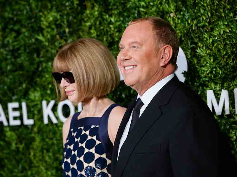Fashion designer Michael Kors with Anna Wintour, Editor-in-Chief of Vogue. Michael Kors has announced it will purchase fellow fashion brand Jimmy Choo for $1.2bn