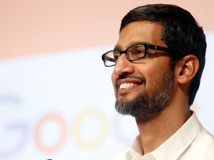 Sundar Pichai, CEO of Google. A French court has ruled that Google's parent company, Alphabet, should be cleared of a disputed $1.27bn tax adjustment bill