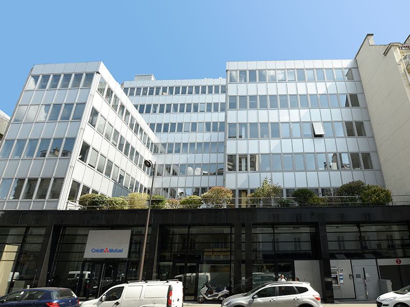Crédit Mutuel's headquarters in Paris, France
