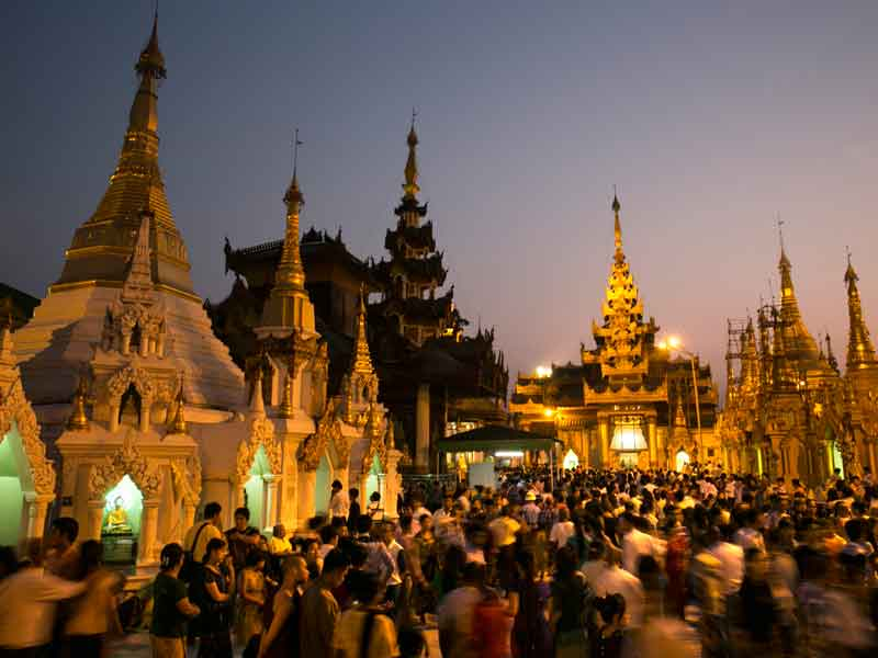 AYA Bank's headquarters are located in Yangon, Myanmar, also home to the beautiful Shwedagon pagoda