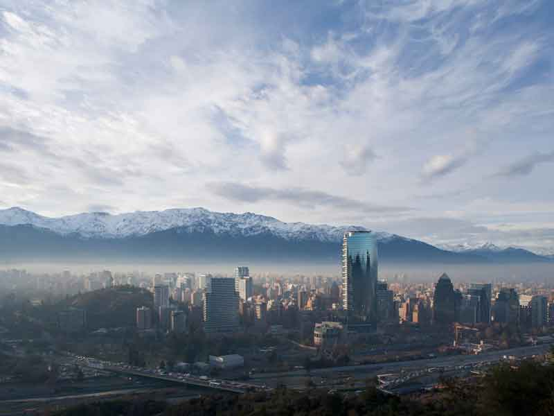 Nestled between the Andes and the Pacific Ocean, Santiago is home to Chile's biggest banks