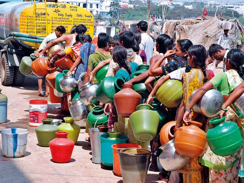 High levels of contamination leave those living in slums with extreme water scarcity