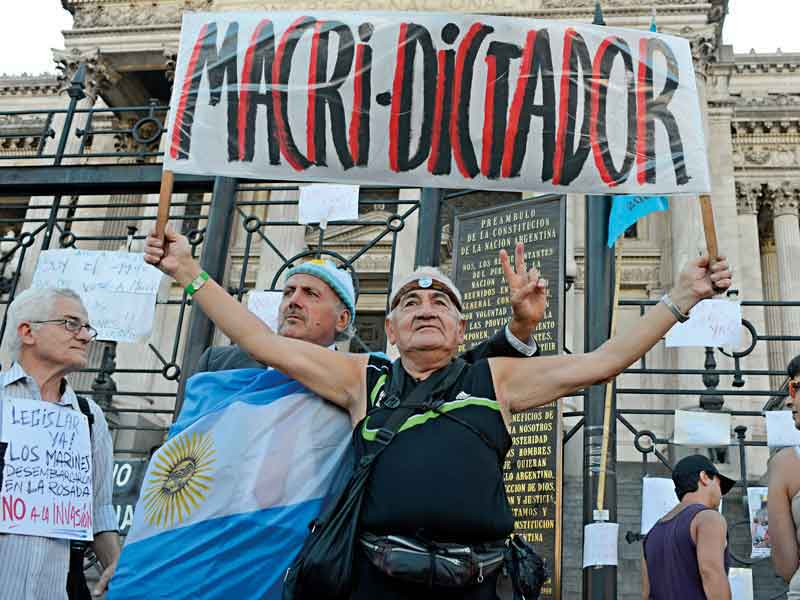 Macri's pro-business reforms have attracted criticism from ordinary people in Argentina