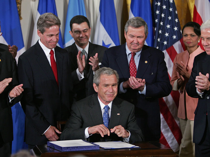 US President George Bush signed CAFTA-DR in August, 2004
