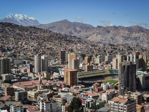 La Paz, the capital of Bolivia. In spite of the multitude of challenges that arose in the country's banking sector over the last 12 months, Banco Mercantil Santa Cruz continues to flourish