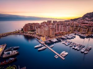 Monte Carlo, in the Principality of Monaco. The country is home to a well established and impressively diverse financial services sector