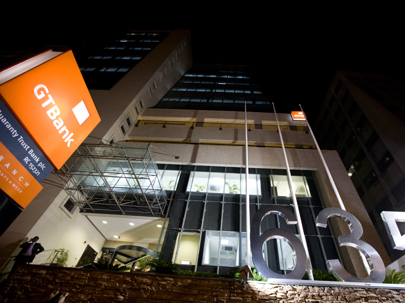 Guaranty Trust Bank's headquarters in Lagos, Nigeria. The bank is enabling more people across Africa access to crucial banking services