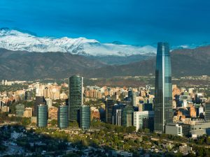 Santiago, the capital of Chile. The South American country is renowned for its strong financial services sector and its market-orientated economy