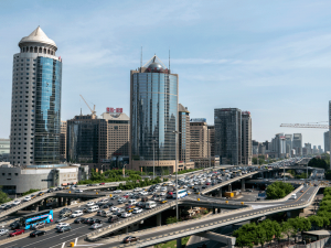 Traffic and office buildings in Beijing's CBD. China offers a multitude of opportunities for businesses considering overseas expansion and investment