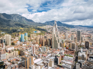 Bogota, Colombia. The country's economy was given a boost by the election of pro-market president Iván Duque who's vow to cut corporation tax is expected to attract foreign investment