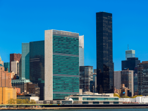 The headquarters of the United Nations, New York City. Initiatives like impact investing can help to accomplish the ambitious social and environmental goals outlined by the international organisation