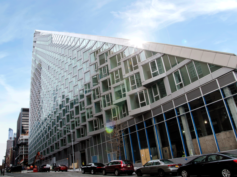 Tecnoglass' technology can be seen on the Via 57 West building in New York. Rapid urbanisation is driving huge growth in the construction glass industry