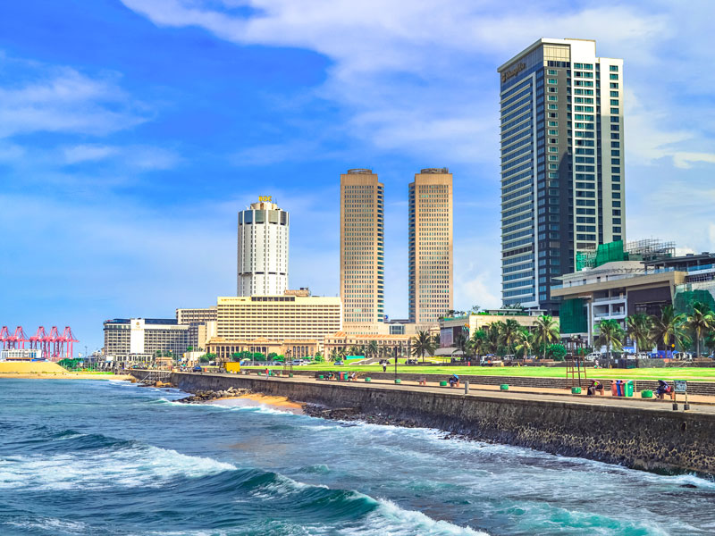 Colombo, Sri Lanka. The island nation's economy has been expanding at a steady rate over the last decade, with school enrolment and employment both increasing markedly