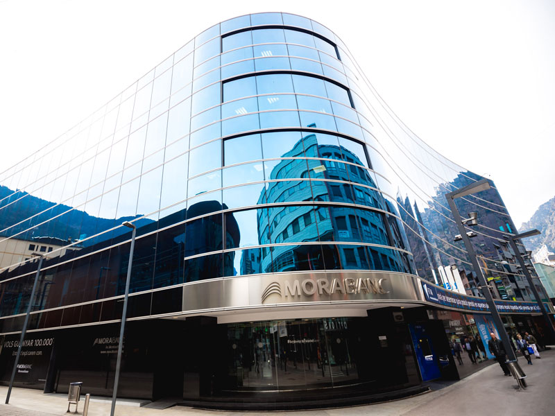 MoraBanc's headquarters in Andorra la Vella. The company has recognised that the future of the banking sector will be inextricably interlinked with digital culture