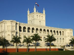 The Palacio de López in Asuncion, Paraguay. The country continues to be plagued by political corruption and the trade of illicit goods