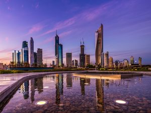 Kuwait City, the capital of Kuwait. The country is benefiting from fintech developments as they are helping to improve and simplify financial processes