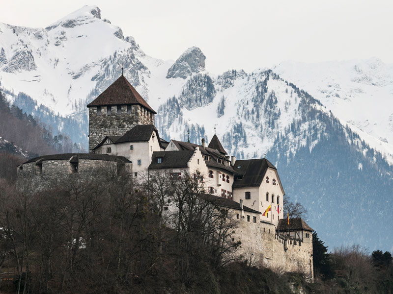 Vaduz Castle, Liechtenstein. The microstate has a unique approach to taxation and has an excellent reputation as a place to do business