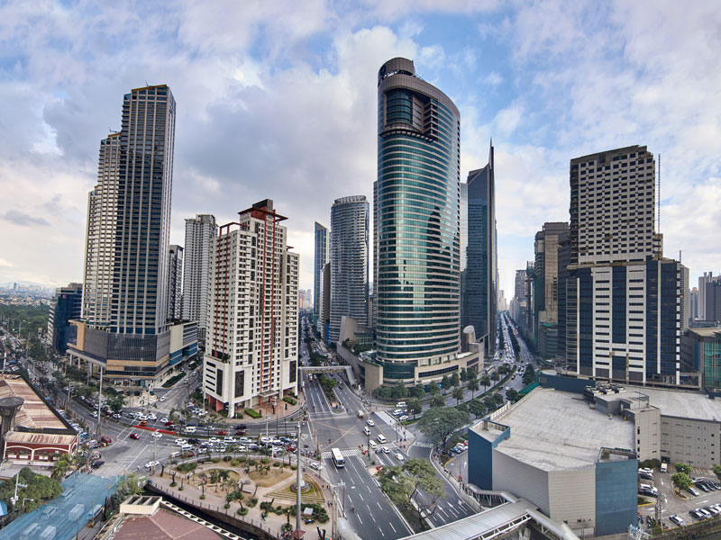 Manilla, capital of the Philippines. The insurance sector has continued to grow and prosper despite the various natural risks that threaten the country