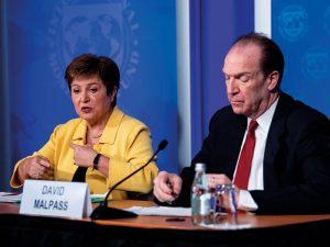 Георгиева и президент Всемирного банка Дэвид Малпасс