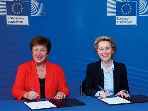 Kristalina Georgieva and European Commission President Ursula von der Leyen