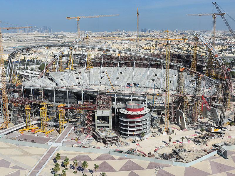 Qatar's Khalifa International Stadium is renovated ahead of the 2022 FIFA World Cup